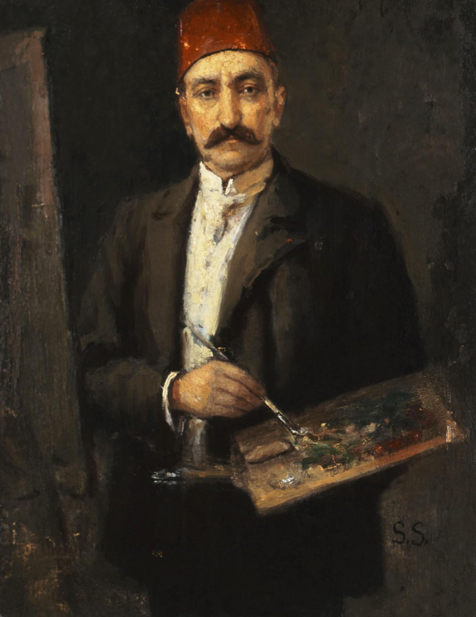 Savvidis Symeon, Portrait of the Turkish Painter Ali Ahmed,